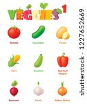 vector vegetables icon set.... | Shutterstock .eps vector #1227652669