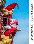 traditional british seaside... | Shutterstock . vector #1227653686