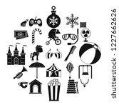 happy childhood icons set.... | Shutterstock .eps vector #1227662626
