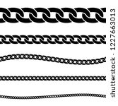 set of black isolated... | Shutterstock .eps vector #1227663013