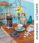 turkish coffee with sugar   Shutterstock . vector #1227666940