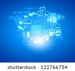 internet technology concept of... | Shutterstock . vector #122766754