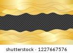 golden waves layered art paper... | Shutterstock .eps vector #1227667576