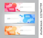 vector abstract design banner... | Shutterstock .eps vector #1227667759