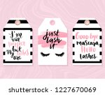 vector fashion tags with lashes ... | Shutterstock .eps vector #1227670069