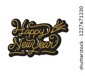 happy new year stickers | Shutterstock .eps vector #1227671230