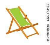 beach chair icon   beach chaise ... | Shutterstock .eps vector #1227673483
