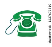 old phone icon in trendy flat... | Shutterstock .eps vector #1227673510