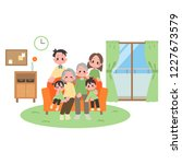 three households family at... | Shutterstock .eps vector #1227673579