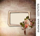 vintage background with frame... | Shutterstock . vector #122767378