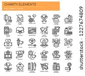 charity elements   thin line... | Shutterstock .eps vector #1227674809