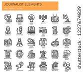 journalist elements   thin line ... | Shutterstock .eps vector #1227674839