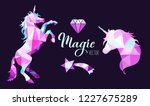 fairy tale vector geometric low ... | Shutterstock .eps vector #1227675289