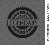 legendary dark emblem. retro | Shutterstock .eps vector #1227677056