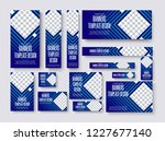 set of vector web banners of... | Shutterstock .eps vector #1227677140