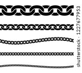 set of black isolated... | Shutterstock .eps vector #1227677953