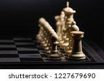 plastic chess closeup on a... | Shutterstock . vector #1227679690