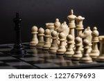 plastic chess closeup on a... | Shutterstock . vector #1227679693