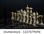 plastic chess closeup on a... | Shutterstock . vector #1227679696