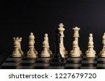 plastic chess closeup on a... | Shutterstock . vector #1227679720