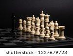 plastic chess closeup on a... | Shutterstock . vector #1227679723