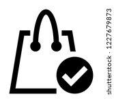 verified shopping bag | Shutterstock .eps vector #1227679873