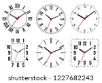 clock dials set. vector... | Shutterstock .eps vector #1227682243