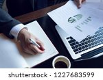 businessman analyzing... | Shutterstock . vector #1227683599