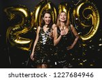 beautiful women celebrating new ... | Shutterstock . vector #1227684946