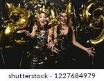 beautiful women celebrating new ... | Shutterstock . vector #1227684979