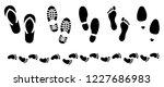 footprints shoes shoe sole... | Shutterstock .eps vector #1227686983