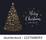 merry christmas and happy new... | Shutterstock .eps vector #1227688093