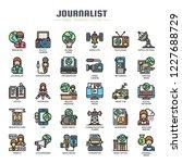 journalist elements   thin line ... | Shutterstock .eps vector #1227688729