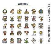 winning elements   thin line... | Shutterstock .eps vector #1227688756