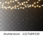christmas lights isolated on... | Shutterstock .eps vector #1227689230