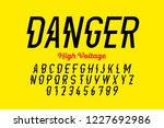 danger  hight voltage style... | Shutterstock .eps vector #1227692986