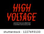 danger  hight voltage style... | Shutterstock .eps vector #1227693133