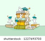 sketch studing little people.... | Shutterstock .eps vector #1227693703