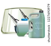 vector car windshield cleaning...   Shutterstock .eps vector #1227693979