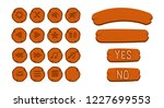 cartoon wooden vector buttons...