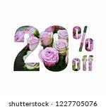 sales are 20 percent. paper cut ... | Shutterstock . vector #1227705076