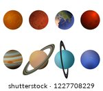 planets of the solar system | Shutterstock .eps vector #1227708229