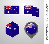 australia flag design set vector | Shutterstock .eps vector #1227710206