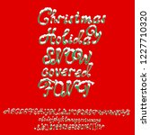 christmas snowy alphabet.... | Shutterstock .eps vector #1227710320