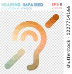 hearing impaired polygonal... | Shutterstock .eps vector #1227714166