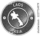 laos map vintage stamp. retro... | Shutterstock .eps vector #1227714979