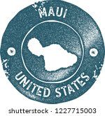 maui map vintage stamp. retro... | Shutterstock .eps vector #1227715003