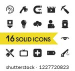 service icons set with oil ...