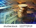 finance background with money... | Shutterstock . vector #122772919