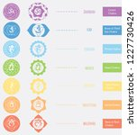 chakras icons . the concept of... | Shutterstock .eps vector #1227730426